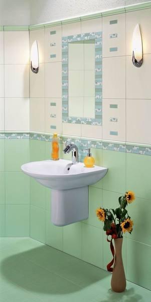 Umyvadlo ve zrekonstruované koupelně