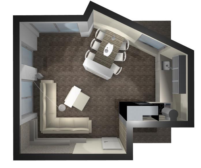 Správné rozvržení rekonstruovaného prostoru je základ